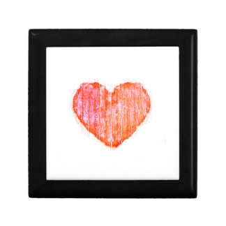 Pop Art Style Grunge Graphic Heart Trinket Boxes