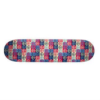 Pop Art Style Peace Signs Skateboard