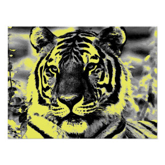 Pop Art Style Tiger Posters