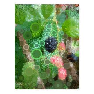 Pop Art Summer Blackberry Postcard
