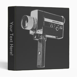 Pop Art Super 8 Movie Camera Vinyl Binders