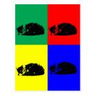 Pop Art Tabby Cat Postcard