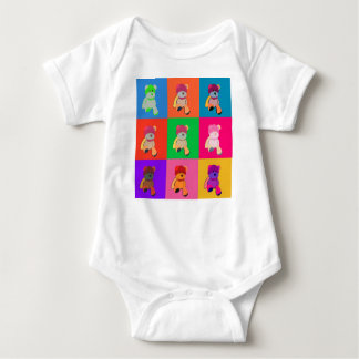 Pop Art Teddy Bear Baby Bodysuit