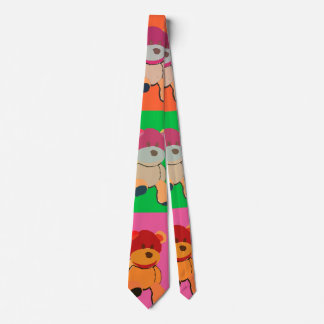 Pop art Teddy bear Tie