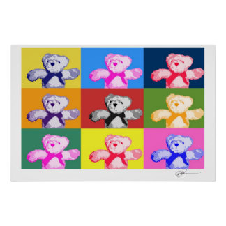 Pop Art Teddy Bears Print