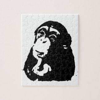 Pop Art Thinking Chimpanzee Puzzles