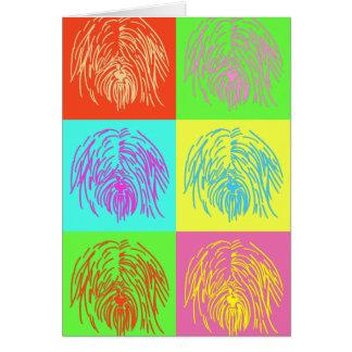 Pop Art Tibetan Terrier Card