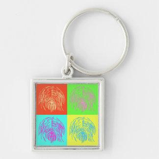 Pop Art Tibetan Terrier Keychain