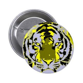 Pop Art Tiger 2 Inch Round Button