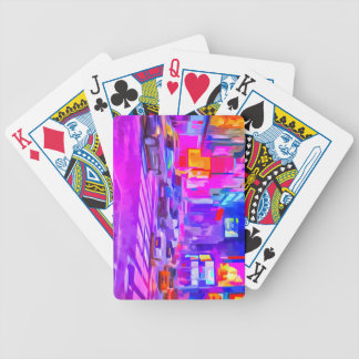 Pop Art Times Square Bicycle Playing Cards