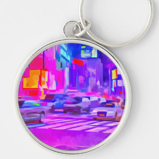 Pop Art Times Square Keychain