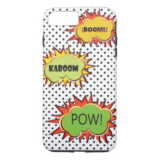 Pop art typography retro style theme design iPhone 7 plus case