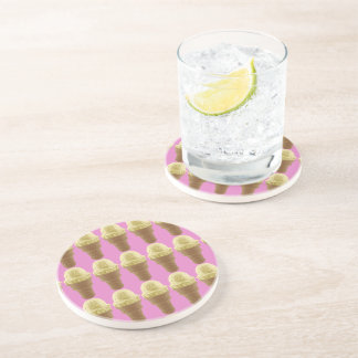 Pop Art Vanilla Ice Cream Cone Coaster