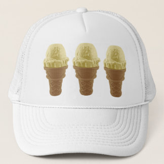 Pop Art Vanilla Ice Cream Cone Trucker Hat