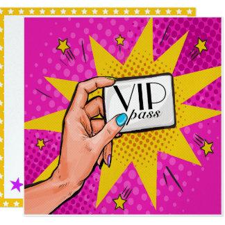 Pop Art VIP Invitation