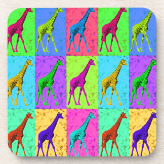 Pop Art Walking Giraffe Panels Coaster