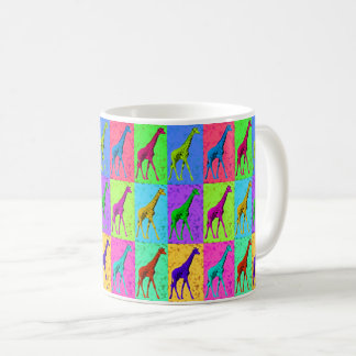 Pop Art Walking Giraffe Panels Coffee Mug