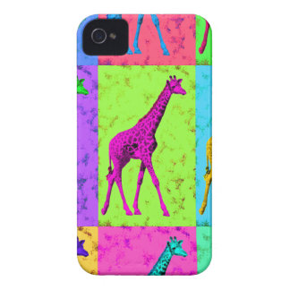 Pop Art Walking Giraffe Panels iPhone 4 Case