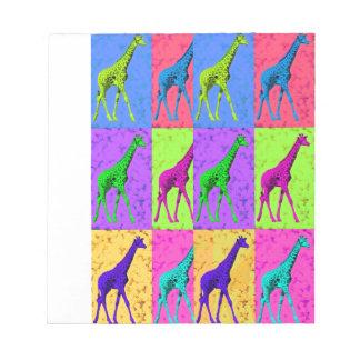 Pop Art Walking Giraffe Panels Notepad