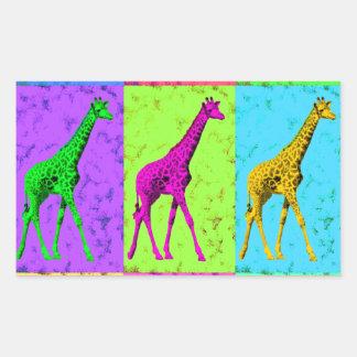 Pop Art Walking Giraffe Panels Sticker