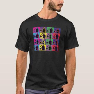 Pop art walkman tee shirt.