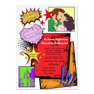Pop Art Wedding Invitation