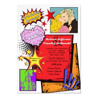 Pop Art Wedding Invitation 2