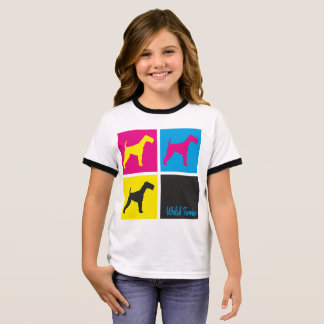 Pop Art Welsh Terrier T-shirt