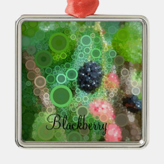 Pop Art Wild Blackberry Ornament