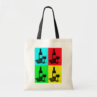 Pop-art Wine and Grapes Art Gifts Tote Bag