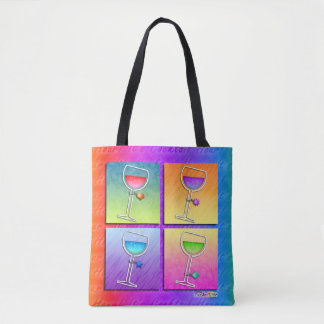 POP ART WINE TOTE BAG