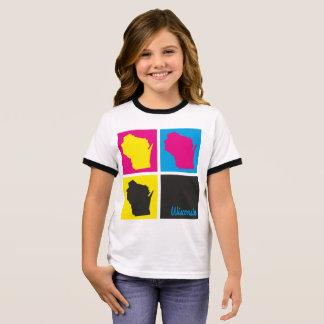 Pop Art Wisconsin Home State T-shirt