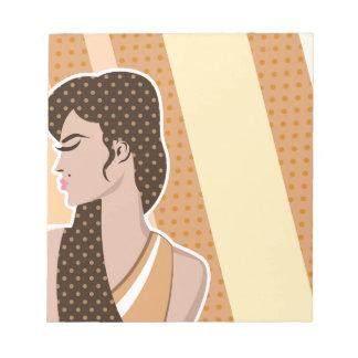 Pop art Woman Notepad