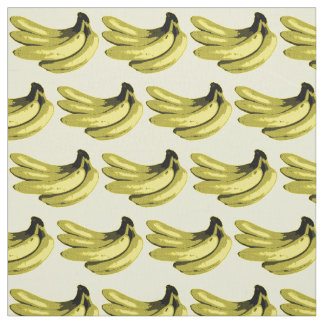 Pop Art Yellow Banana Graphic Fabric