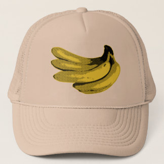 Pop Art Yellow Banana Graphic Trucker Hat