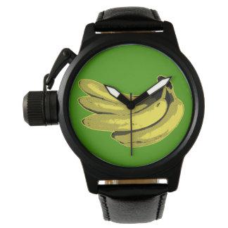 Pop Art Yellow Banana Graphic Watch