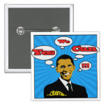 Pop Art Yes We Can Obama Button