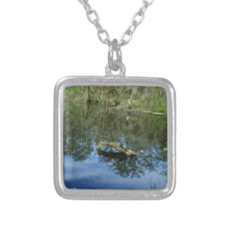Pop Ash Pond Silver Plated Necklace