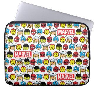 Pop Avengers Character Head Pattern Laptop Sleeve
