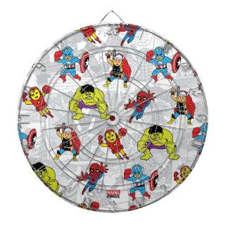 Pop Avengers Comic Book Pattern Dart Board