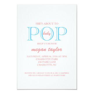 Pop Baby Shower Invite |whitepiblu