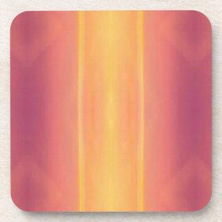 Pop Bright Pink Peach Vertical Pattern Coaster
