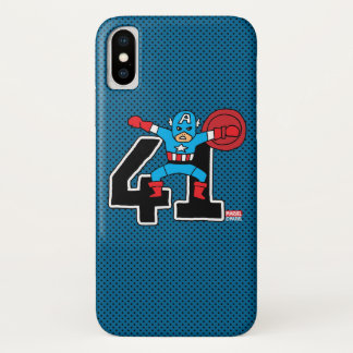 Pop Captain America 41 iPhone X Case