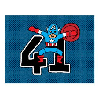 Pop Captain America 41 Postcard