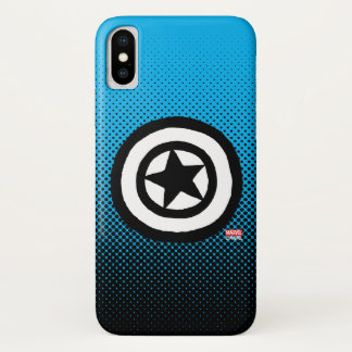 Pop Captain America Logo iPhone X Case