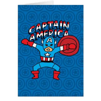 Pop Captain America with Logo Card