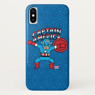 Pop Captain America with Logo iPhone X Case