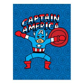 Pop Captain America with Logo Postcard