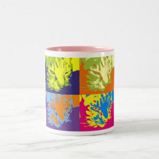 pop cat Two-Tone coffee mug