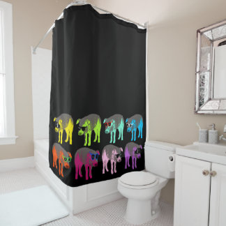 Pop Colors Chinese Pig Year Zodiac Shower Curtain